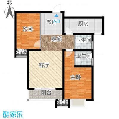 藏龙福地98.19㎡Q2面积9819m户型