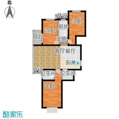 藏龙福地110.70㎡M2面积11070m户型