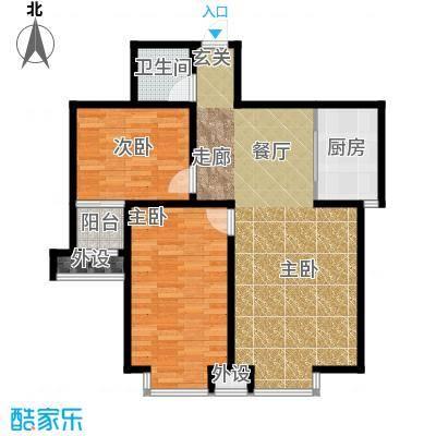藏龙福地88.10㎡N面积8810m户型