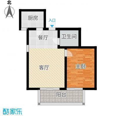 嘉实泊岸61.77㎡1单元021室面积6177m户型