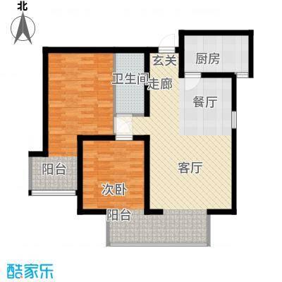 嘉实泊岸85.42㎡1、2单元032室面积8542m户型