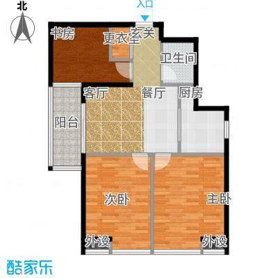 藏龙福地93.18㎡15#S面积9318m户型