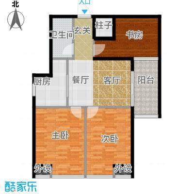 藏龙福地96.43㎡15#S面积9643m户型