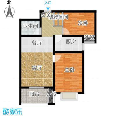 藏龙福地86.80㎡9号楼W868面积8680m户型