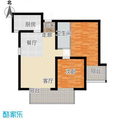 嘉实泊岸85.42㎡2单元022室面积8542m户型