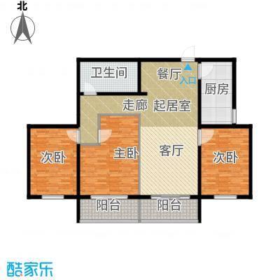 领秀城108.00㎡5号楼1面积10800m户型