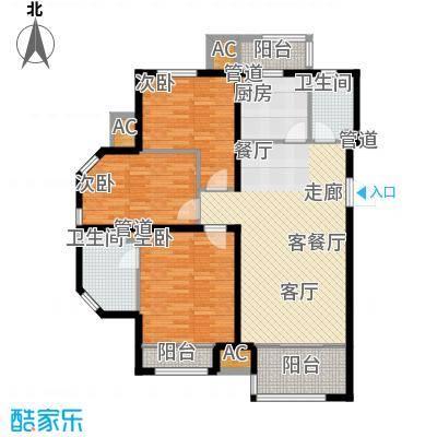 尚湖名筑123.46㎡5#、6#、7#、8#面积12346m户型