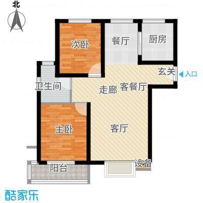 鼎旺国际社区95.00㎡D计划--A户面积9500m户型