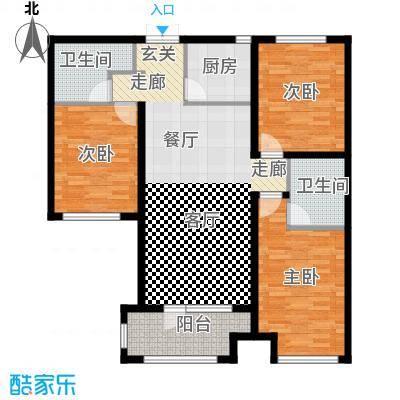 国赫红珊湾5#号楼B户型