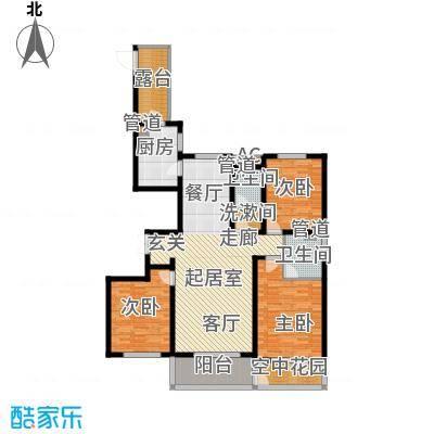 维多利亚时代三期8#楼偶数层H东-01户型