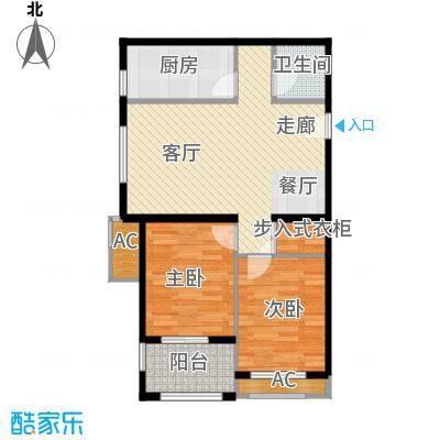 西溪诚园1号楼2号楼标准层B3户型