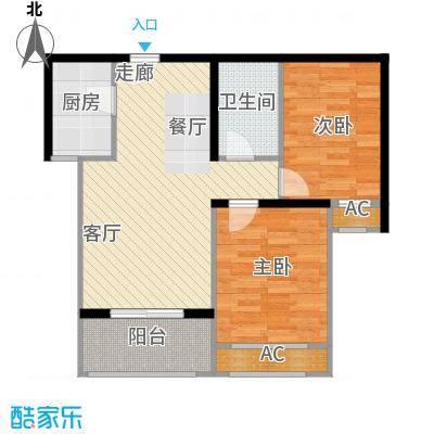 西溪诚园1号楼2号楼标准层B1户型