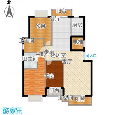 花香维也纳145.00㎡天丽三居室3面积14500m户型