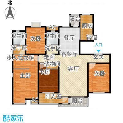 国大全城169.32㎡9、10号楼标准层面积16932m户型