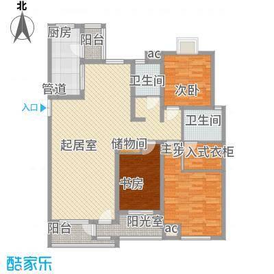 国大全城141.60㎡9、10号楼标准层面积14160m户型