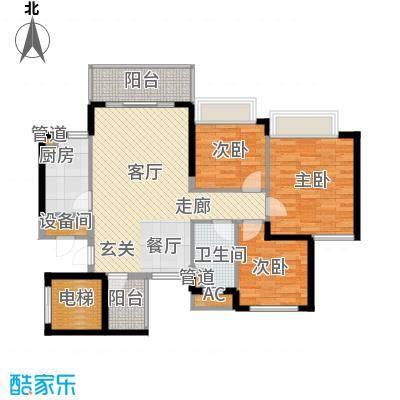 恒大雅苑97.17㎡10-12号楼2单元面积9717m户型