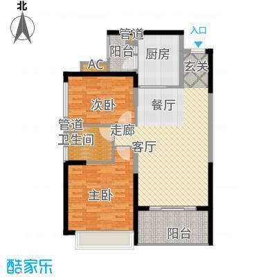 恒大雅苑91.06㎡10-12号楼2单元面积9106m户型