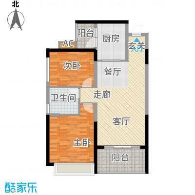 恒大雅苑91.22㎡11号楼3-18层3户面积9122m户型
