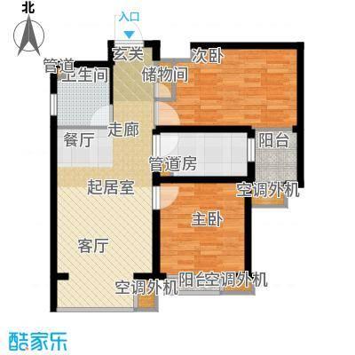 中基礼域85.23㎡19#楼-一面积8523m户型