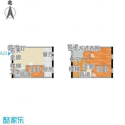 联邦东方明珠87.93㎡公寓2-2-10面积8793m户型