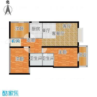 龙洲新城2号楼-1-04户型
