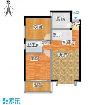 龙洲新城8号楼-2-04户型