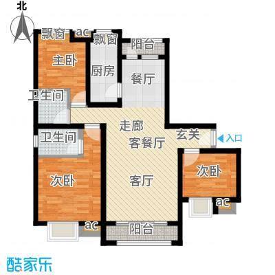 钢城水岸1#5#楼K1户型