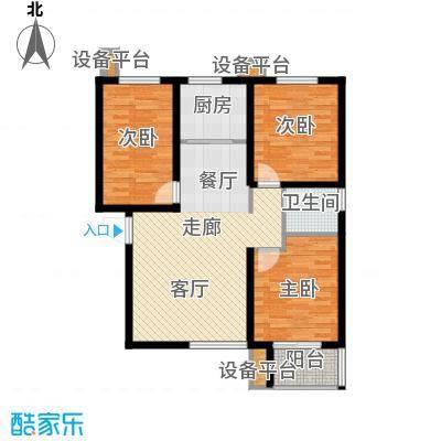 西部枫景傲城21号楼标准层D户型