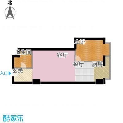 万隆国际中心76.41㎡c反朝东面积7641m户型