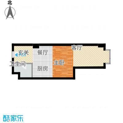 万隆国际中心59.91㎡d朝东5面积5991m户型