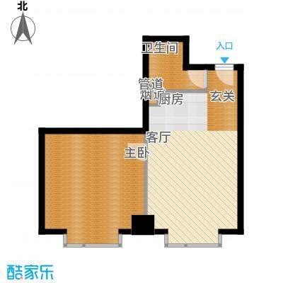 万隆国际中心71.12㎡2号楼公寓F面积7112m户型