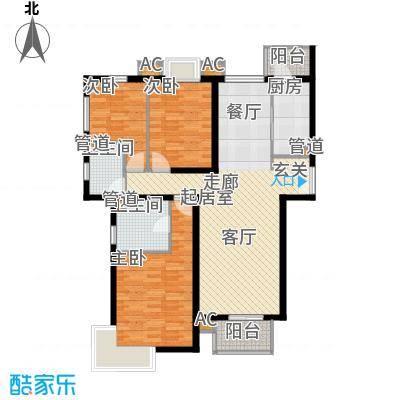 西美花城4#楼3-2-2户型