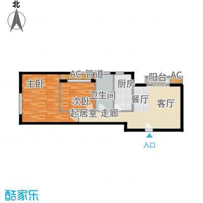 西美花城91.52㎡4#楼2-2-191面积9152m户型