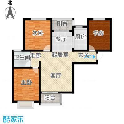 塔元庄园滹沱半岛8号楼D户型