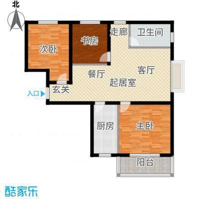 塔元庄园滹沱半岛4号楼E户型