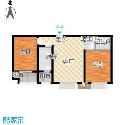卓达太阳城2号楼2单元4室2室户型