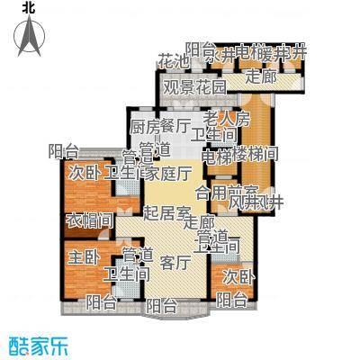 天阳御珑湾6号楼B豪华三居户型