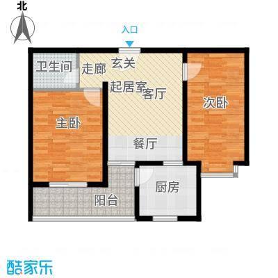 翰林雅筑86.41㎡11号楼顶层面积8641m户型