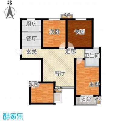 锦城116.00㎡1号楼D面积11600m户型