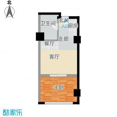 中宏汇景国际54.30㎡酒店式公寓面积5430m户型
