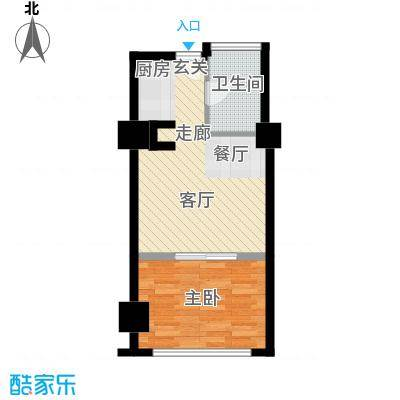 中宏汇景国际53.90㎡酒店式公寓面积5390m户型