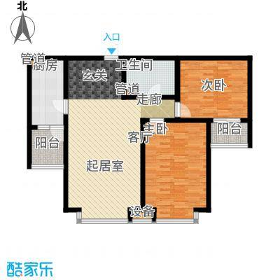 冀兴尊园96.31㎡7#楼二单元D2室面积9631m户型