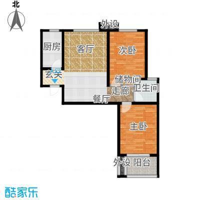 藏龙福地93.70㎡9号楼X937面积9374m户型
