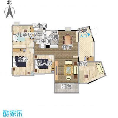 复地城就117方三室两厅