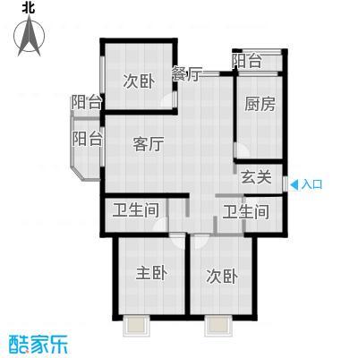远洋海世纪137.00㎡海悦公馆C3户型3室2厅2卫