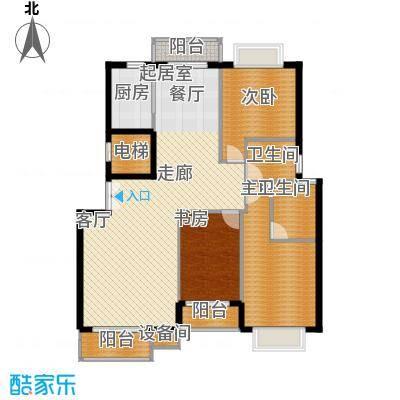 花香维也纳143.00㎡天籁三居室3面积14300m户型
