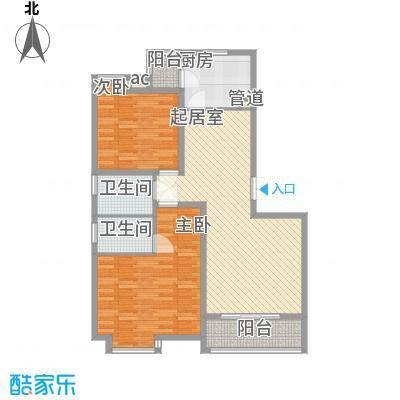 国大全城115.77㎡D17、8号楼标准面积11577m户型