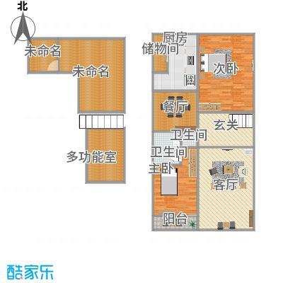 北京城建180平3室2厅跃层