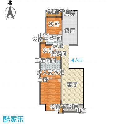 万通天竺新新家园・溪悦府150.00㎡翠堤雅居 三室两厅两卫户型3室2厅2卫