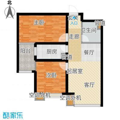 中基礼域88.21㎡19#楼-一面积8821m户型